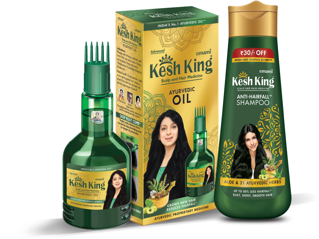 Kesh King Ayurvedic Hair Oil and Shampoo