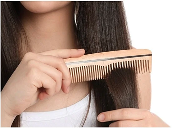 Gently comb your hair