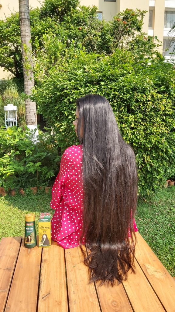 Hair growth due to kesh king oil and shampoo