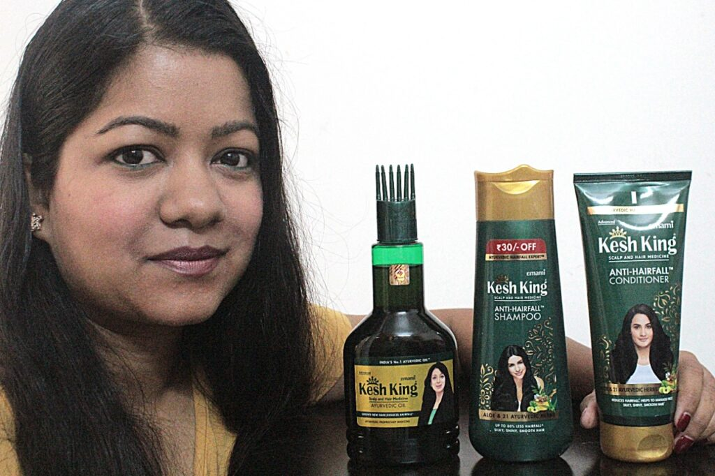 Kesh King Ayurvedic Hair Oil, Shampoo & Conditioner