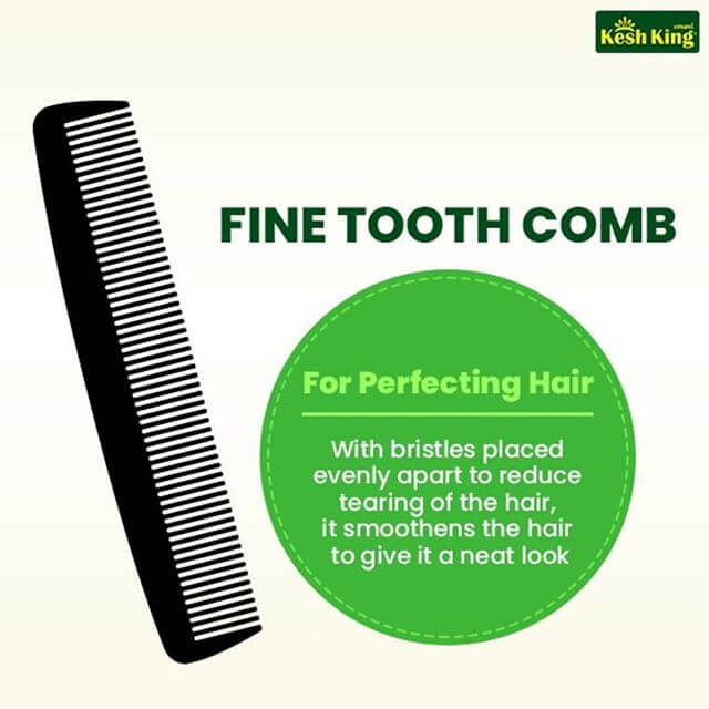 Fine tooth comb to reduce tearing of hair