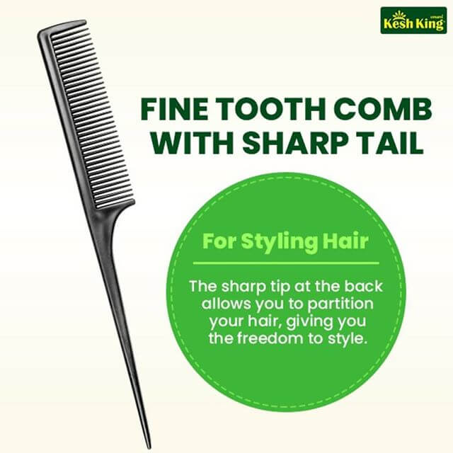 Fine tooth comb for styling hair