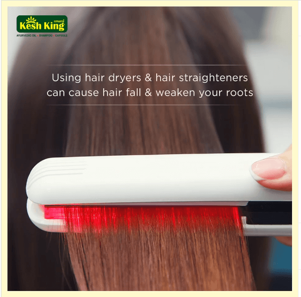 Hair dryers and hair straighteners can cause hairfall