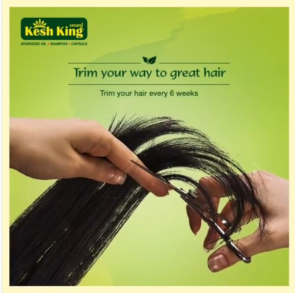 Trim Your hair to reduce hair fall