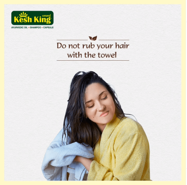 Avoid rubbing your hair with towel after hair wash